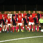 Los jugadores del Inter Barriada y Unión Balompié.