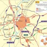 Plano del actual proyecto de construcción 'Autovía SE40' que lleva el ramal de conexión norte solo hasta La Rinconada. Foto: Ministerio de Fomento.