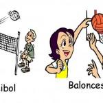 voleibo y baloncesto