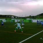 Partido que enfrentó al Cazalla y al Pedroso en el Estadio de El Moro, en Cazalla. Foto: Abraham Parrón.