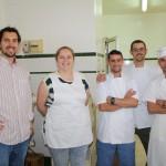Carlos Oriz, África González, Luis Romero, Ángel Ortiz y Antonio Ortega, el equipo de la Confitería. Foto: La Plaza.