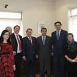 Visita institucional a la sede del Juzgado en Los Escolares en enero de 2014. Foto: Ayuntamiento de Cazalla