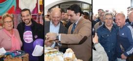 PSOE, PP y Podemos hacen campaña en la Feria de Muestras de El Pedroso