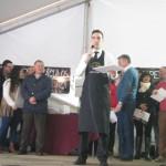 Juan Antonio Pérez, ganador del concurso en la categoría de cortador de jamón. Foto: La Plaza.