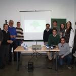 Algunos de los miembros de la gestora de la Asociación Somos Sierra Norte de Sevilla con el consejero de Economía, Antonio Ramírez de Arellano, Francisco Casero y Ezequiel Martínez.