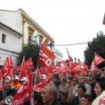 Concentración en Monesterio el sábado 12 de febrero. Foto: La Plaza.