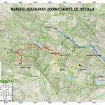 Mapa marcha solidaria Sierra Norte