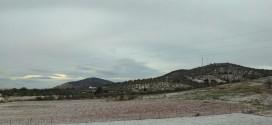 La Sierra Norte de Sevilla amanece con tintes blancos de nieve tras una madrugada gélida
