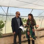 Rafael García y Lola Guil durante la presentación de Biosuelos el pasado mes de mayo.