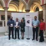 Presentación del tercer libro de Diego Castillo ante los medios de comunicación en Sevilla.