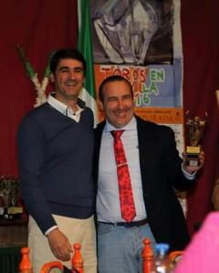 Miguel Rosal con Jesulín de Ubrique en la III Conferencia Taurina del año pasado.